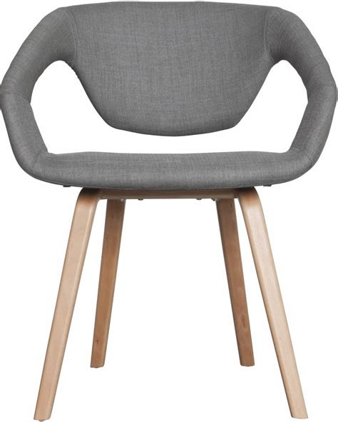chaise zuiver zuiver salle à manger chaise flexback gris naturel
