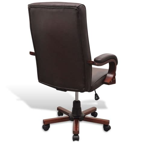 acheter fauteuil de bureau chesterfield en cuir artificiel marron pas cher vidaxl fr