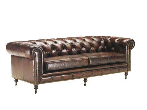 canape en anglais canapé vintage 3 4 places en cuir vieilli chesterfield
