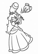 Peach Princess Coloring Pages Hammer Princes Printable Print Categories Getcolorings Books sketch template