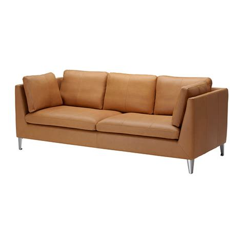 canapé cuir orange stockholm 3er sofa seglora naturfarben ikea