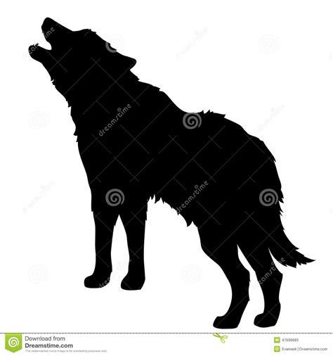 wolf stock vector illustration  bark animal howling