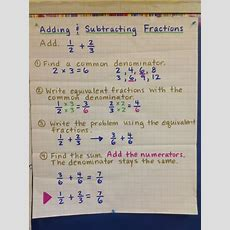 1000+ Images About Adding And Subtracting Fractions On Pinterest