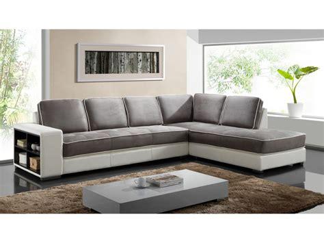 canapé d angle tissu beige canapé d 39 angle tissu et simili noir ou blanc randy