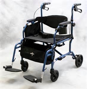 medline excel translator 2 in 1 transport chair wheelchair rollator combo blue ebay