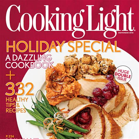 cooking light magazine november 2010 recipe index