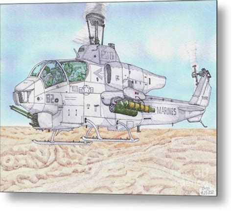 Cobra Attack Helicopter Drawing By Calvert Koerber