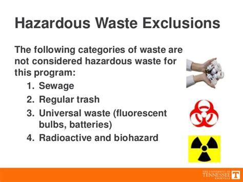hazardous waste utk