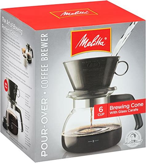 Porcelain brewer 6 cup coffee maker box. Melitta Pour-Over Coffee Brewer w/ Glass Carafe, 6 Cups (6 Ounces per Cup) - Buy Online in UAE ...