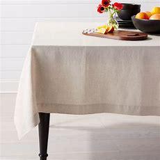 Helena Dark Natural Linen Tablecloth  Crate And Barrel