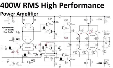 High Performance Power Amplifier Circuit Audio