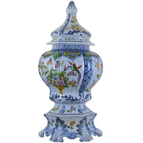 large vintage italian pottery urn mid  century