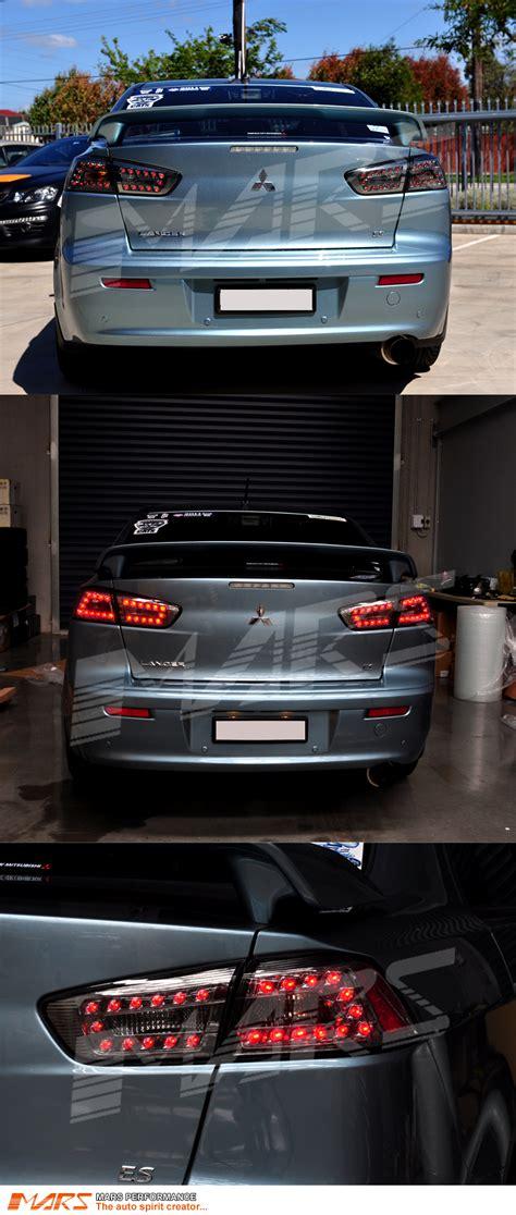 evo x lights smoked led lights for mitsubishi lancer cj cf sedan