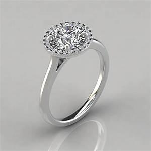 Plain shank floating halo engagement ring puregemsjewels for Wedding ring description