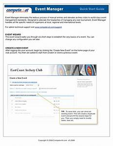 Quick Start Guide  Online Registration With Event Manager