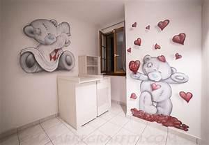 Chambre Bébé Ourson : chambre de b b nounours chambre graffiti ~ Teatrodelosmanantiales.com Idées de Décoration