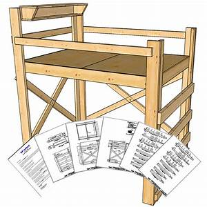 Full/Double Size Loft Bed Plans - Tall Height - OP Loftbed