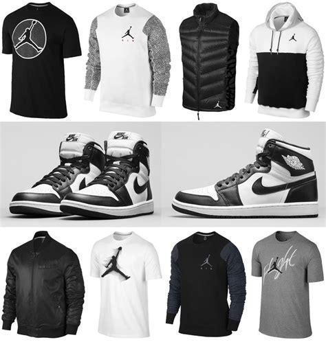 Air Jordan 1 Retro High OG Black White Clothing Apparel ...