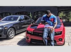The Game Poses Next To His New Chevrolet Camaro