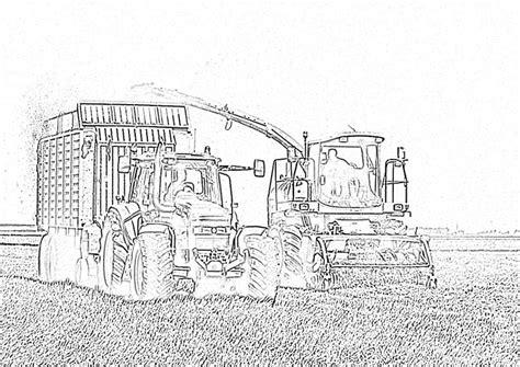 Kleurplaat Machines Landbouw by Trace Cyrus Hakselaar Kleurplaat