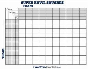 super bowl squares with quarter lines printable version With super bowl box template