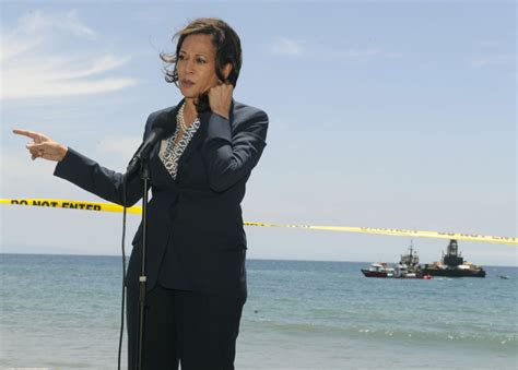 Attorney General Kamala Harris Visits Refugio State Beach