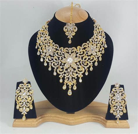 indian bollywood style fashion gold plated bridal jewelry
