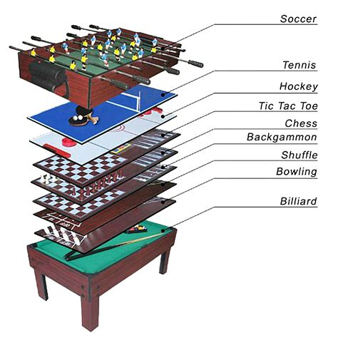 all in one pool table 9 in 1 multi games table football basketball hockey tennis