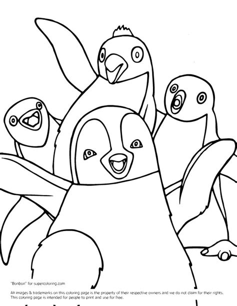 happy feet coloring pages az coloring pages