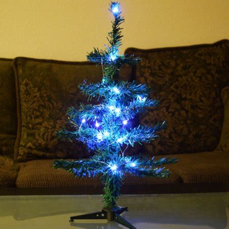 small led christmas tree small 18 quot led lighted desktop tree with stand cool white battery operated walmart
