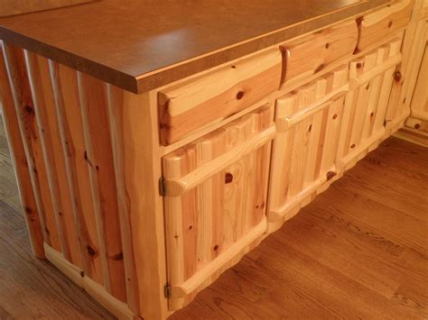 knotty pine kitchen island log home accessories woodhaven 6676