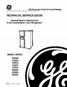 Service Manual   Ge Gss20 Ge Electric Side