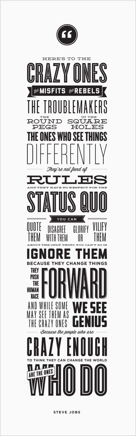 typographic quotes quotesgram