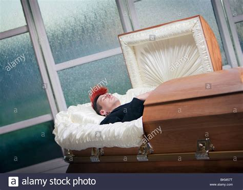 A Deceased Young Man In A Coffin Stock Photo: 29332012 - Alamy