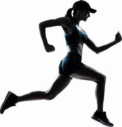 Running Transparent Woman Clipart Background Runner Silhouette