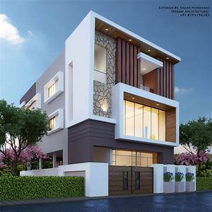 Modern House Bungalow Exterior By  Sagar Morkhade  Vdraw