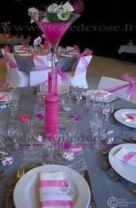 Deco Table Rose Et Gris : decoration salle mariage rose gris blanc ~ Melissatoandfro.com Idées de Décoration