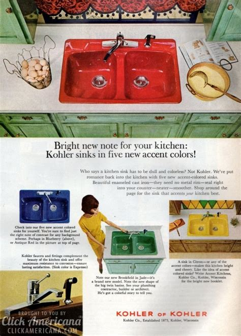kitchen sinks and faucets bold brightly colored kitchen sinks 1966 1968