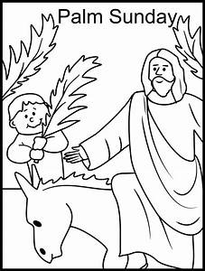 Palm Sunday Coloring Page Catholic Coloring Pages