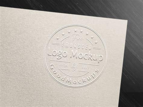 fancy art card embossed logo mockup psd good mockups