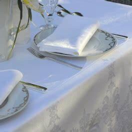 Serviette De Table Blanche : serviette blanche encadr e 55x55 cm 100 coton rena ~ Teatrodelosmanantiales.com Idées de Décoration