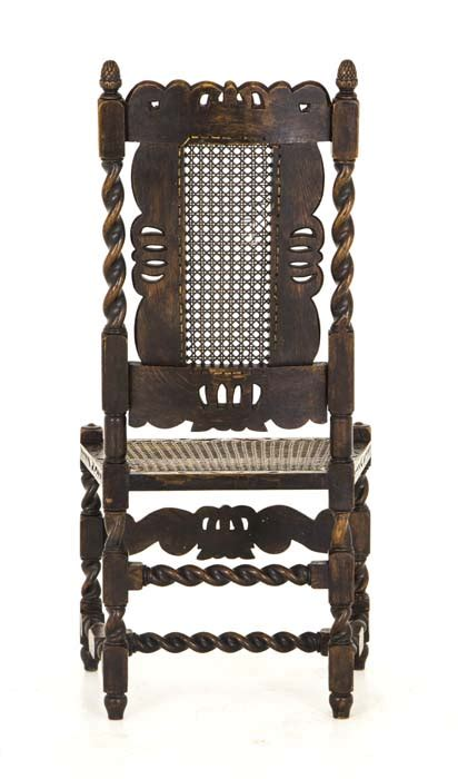 antique chairs jacobean barley twist  walnut chairs