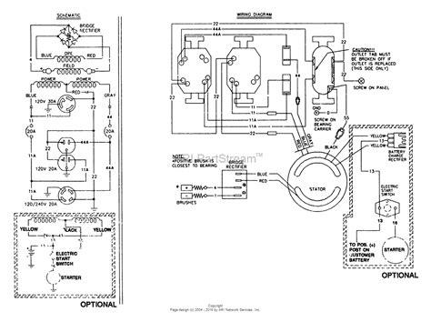 kawasaki 5000 watt generator parts wiring diagram and