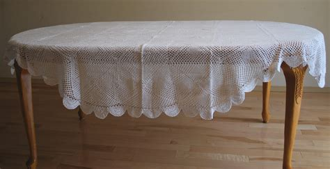 tablecloth for oval table 72 inch x 108 inch oval hand crochet lace table cloth