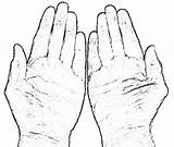 Hands Coloring Praying Drawing Hand Prayer Finger Five Popular Getdrawings Properties Coloringhome sketch template
