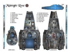 serenity rpg ship layout floor plans main deck plans
