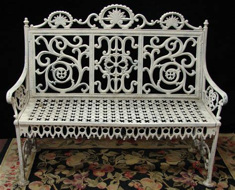 cast iron garden bench the white for the
