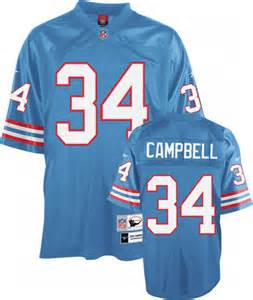 NFL Houston Oilers Earl Campbell Throwback Jersey