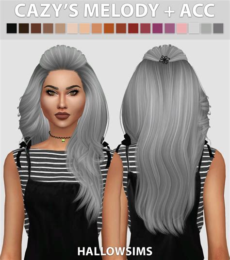 sims  hairs hallow sims cazys melody accessory hair