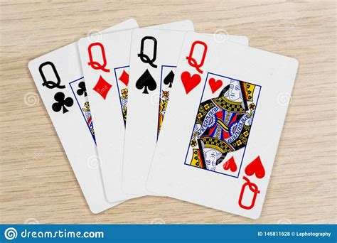 kind queens casino playing poker cards stock